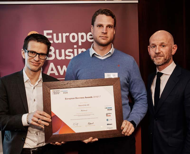 SmartDok vunnit RSM European Business Awards för andra året i rad.