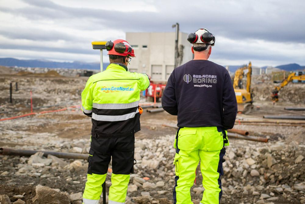 4 000 meter med pelare ska ned i jorden under det nya sjukhuset.
