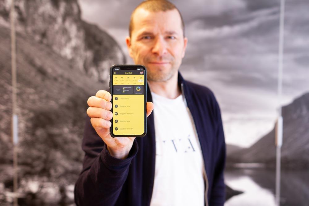 Grundaren Bjørn Tore Hagberg ser fortsatt stark tillväxt i företaget. Nu över 70,000 användare!