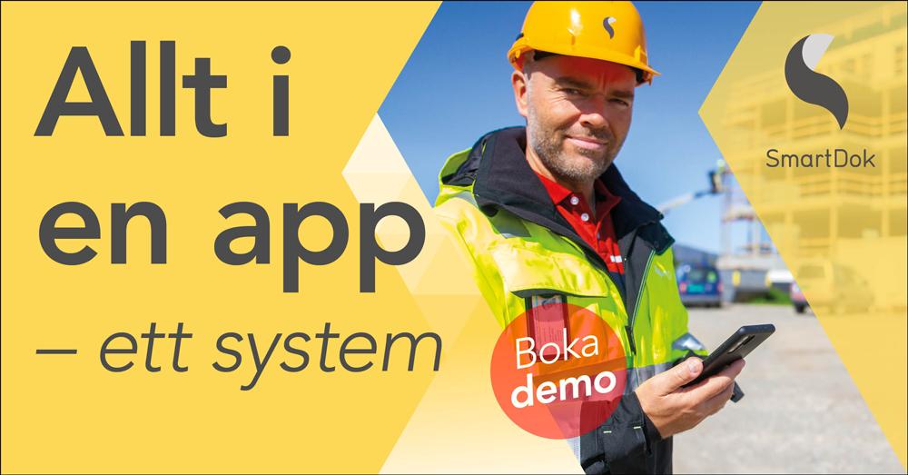 SmartDok är utvecklat efter vad bygg- och anläggningsbranschen behov och alla funktioner är utvecklade i tätt samarbete med branschen. Vi har alltid haft ett fokus på att lösa problem och göra vardagen enklare för kunderna.